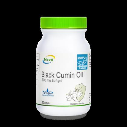 Nova Black Cumin Oil 500mg Softgel 60's