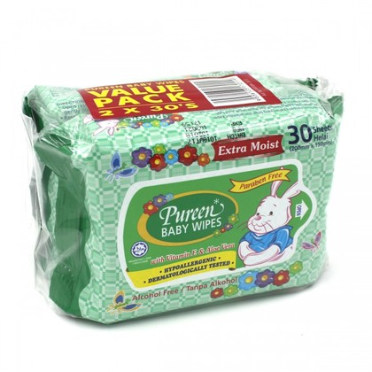 Pureen Baby Wipes Value Pack 30's x 2