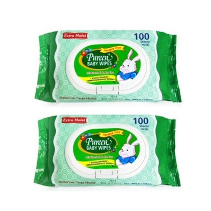 Pureen Baby Wipes Value Pack 100's x 2