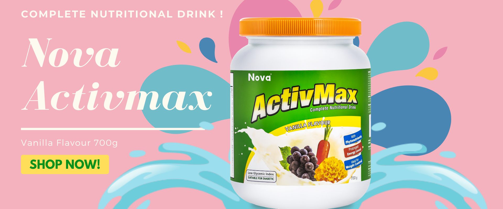Nova Activmax Vanilla Flavour 700g